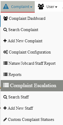 complaint escalation, service request escalation