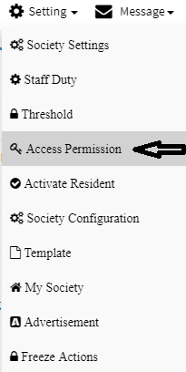 society management role access permission