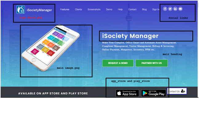 customise your society website
