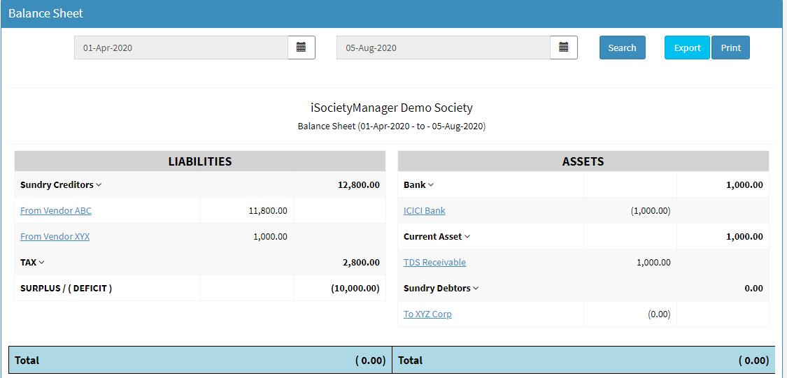 society accounting system