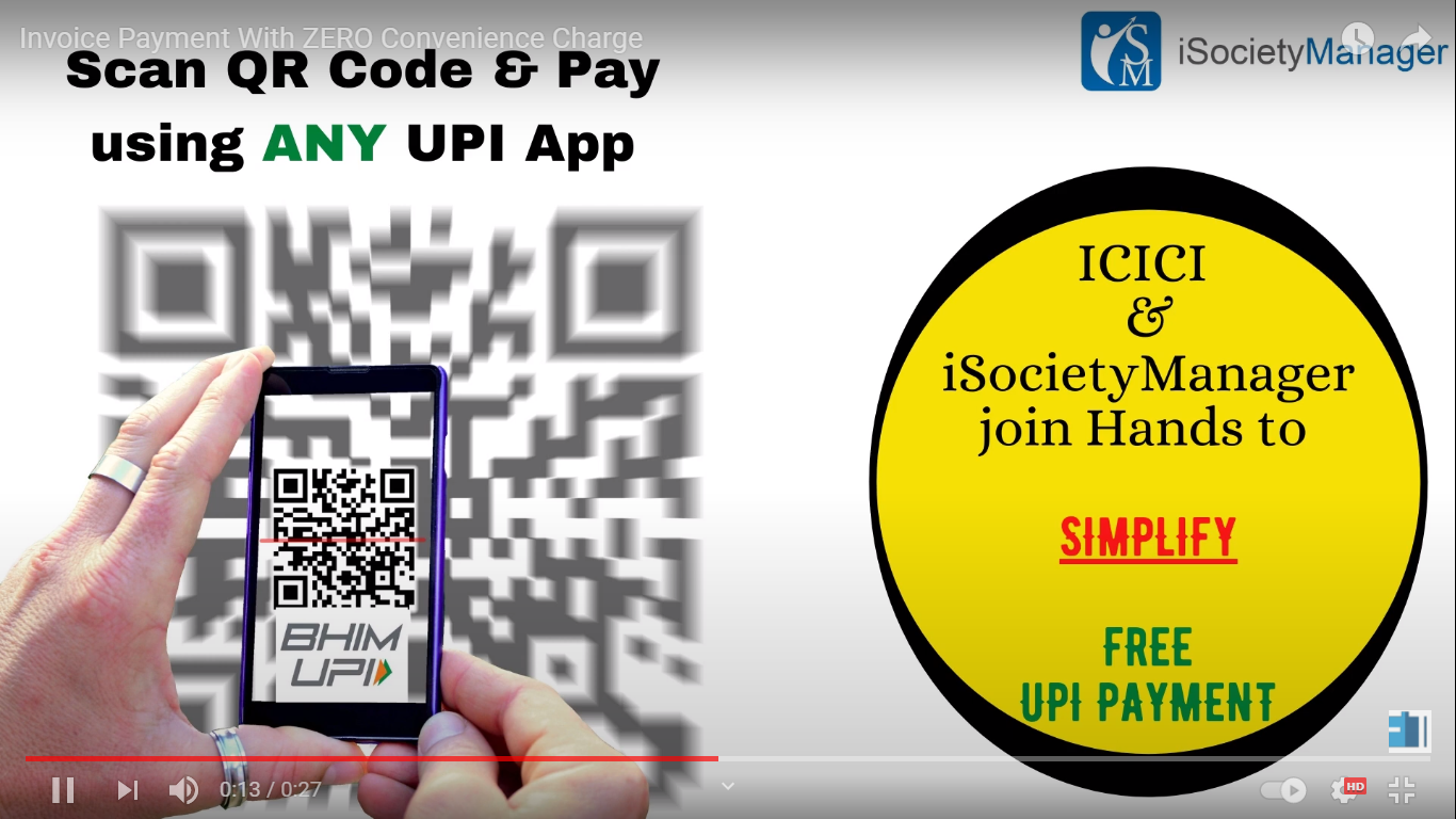 ICICI UPI Payment with isociety