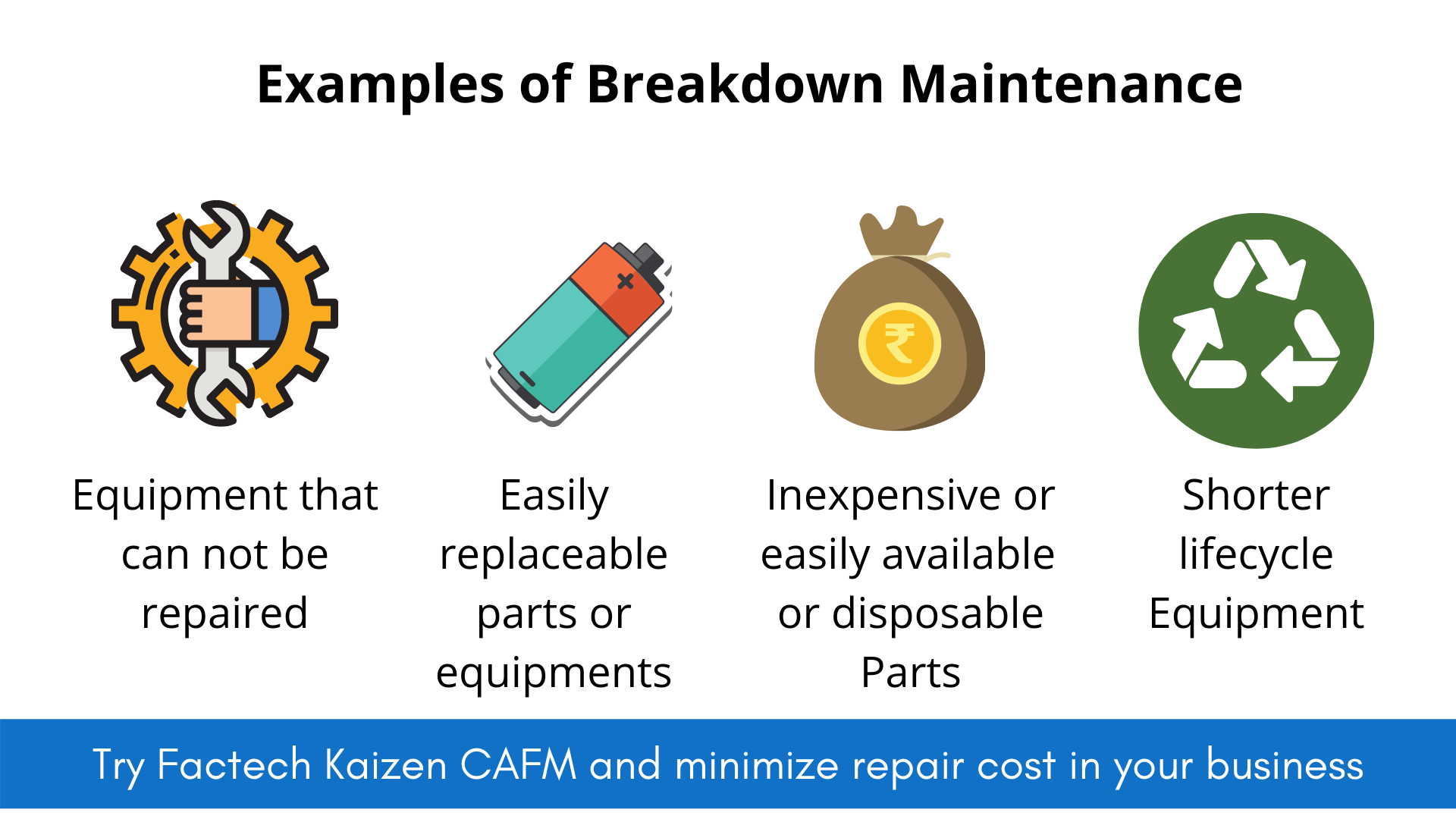 what are examples of breakdown maintenance