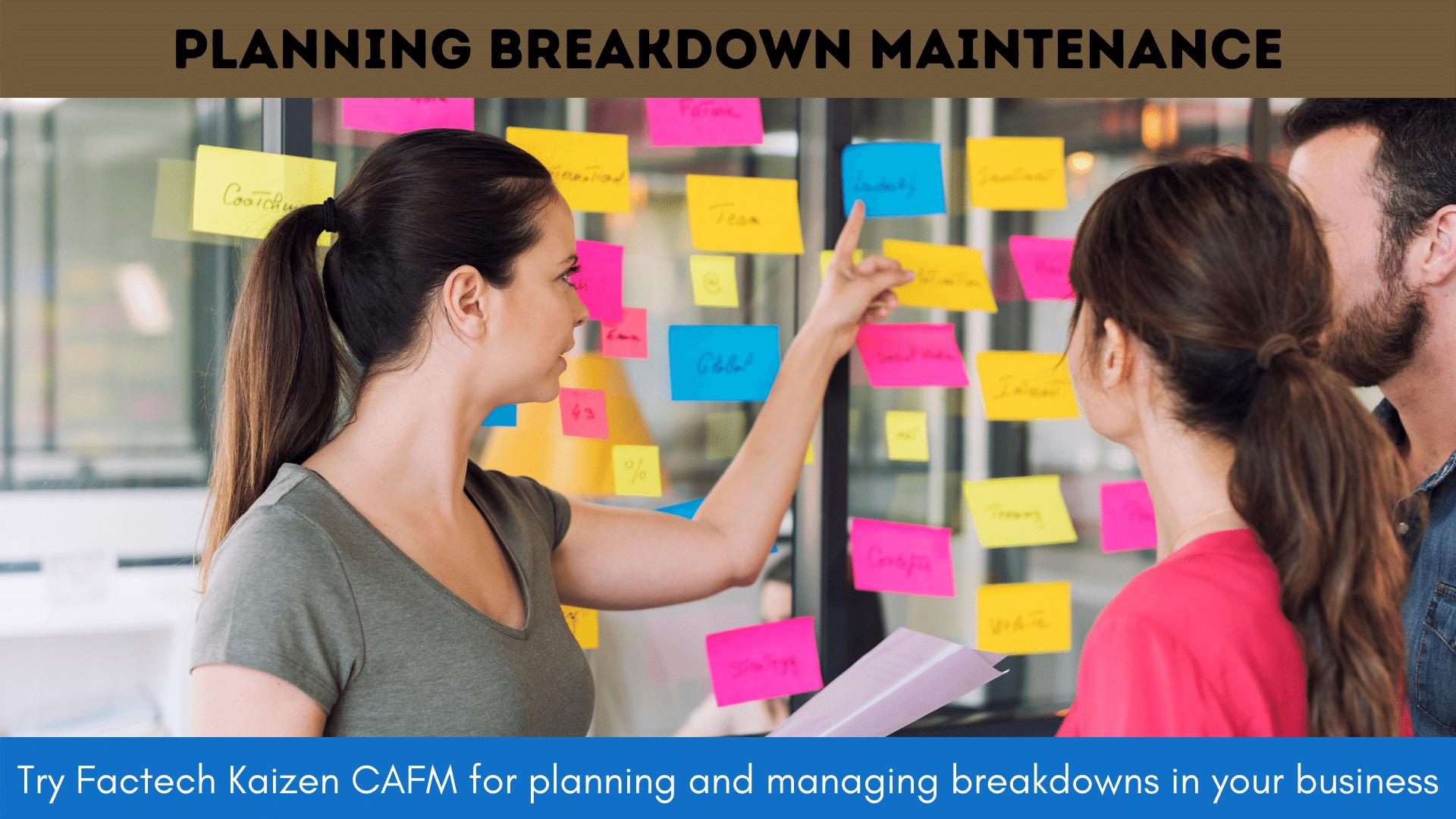 how to plan breakdown maintenance