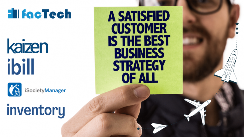 customer gain and benefits. success story of customer satisfaction factech isocietymanager kaizen